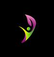 beauty happy leaf logo vector image