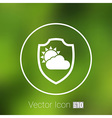 rainy weather icon with clouds and umbrella vector image