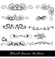 Hand drawn line border vector image