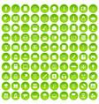 100 information icons set green circle vector image vector image