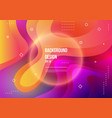 abstract fluid color pattern neon color liquid vector image vector image