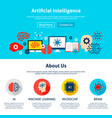 artificial intelligence website design vector image vector image