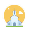 beautiful church flat vector image
