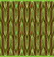 brown and green wave pattern vector image vector image