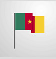 cameroon waving flag design background vector image vector image