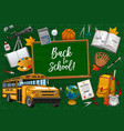 chalkboard back to school lettering stationery vector image vector image
