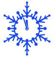 clock snowflake vector image vector image