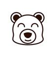 cute face bear animal cartoon icon thick line vector image vector image