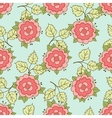 Doodle Rose Seamless Pattern vector image
