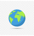 earth globe on transparent background vector image vector image