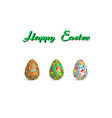 easter egg pattern paint color on white vector image vector image