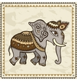 Ethnic elephant Indian style vector image