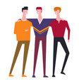 family people brothers or friends embracing vector image vector image
