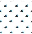 Fire Helmet Flat Seamless Pattern vector image vector image