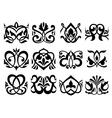 Floral retro ornament design elements vector image vector image