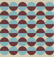geometric pattern with two coluored circles vector image vector image