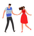 girlfriend beautiful young couple and romantic vector image vector image