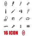 grey cosmetics icon set vector image vector image