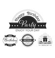 happy birthday to you vintage style stickers vector image vector image