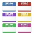 Hello My Name Is Introduction cards labels and vector image