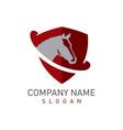 horse shield logo vector image