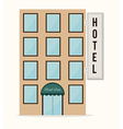 Hotel design over white background vector image vector image