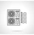 Industrial air conditioning flat line icon vector image vector image
