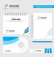 injection logo calendar template cd cover diary vector image