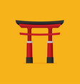japanese torii gate national symbol traditional vector image vector image