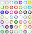 Large set of diamonds all colors vector image vector image