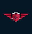 letter rh home shield logo design vector image vector image
