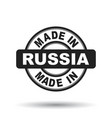 made in russia black stamp on white background vector image vector image