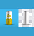 mockup a medium aluminum bottle with a yellow vector image