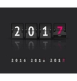 New Year concept Flip board at different states vector image vector image