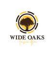 oak tree inspiration logo design vector image