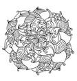 ornamental succulent vector image