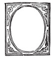 picture-frame structure for admitting inclosing vector image