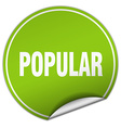 popular round green sticker isolated on white vector image vector image