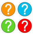 Question buttons set vector image