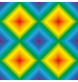 Rainbow rhombus seamless texture vector image vector image
