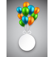Round paper label on balloons vector image vector image