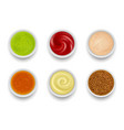 sauce top view gourmet liquid sauce syrup for vector image