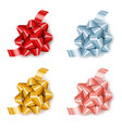 set colorful realistic gift bows with ribbon vector image vector image