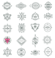 set hipster line signs and emblems vector image vector image