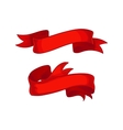 Set of decorative red ribbons vector image