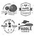set paddle tennis badge emblem or sign vector image vector image