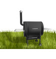 smoker barbecue on grass vector image