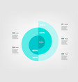 spiral circular chart color infographics step by vector image