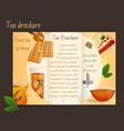 Tea brochure tri-fold vector image