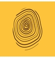 The fingerprint icon Fingerprint symbol Flat vector image